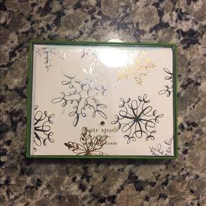 Kate Spade Set of 10 Holiday cards w/ envelopes